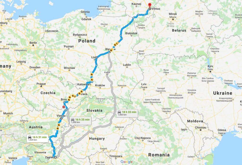Maršrutas kelionei mikroautobusu