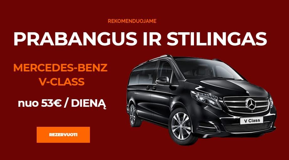 Mikroautobusu nuoma Mercedes-Benz V-Class