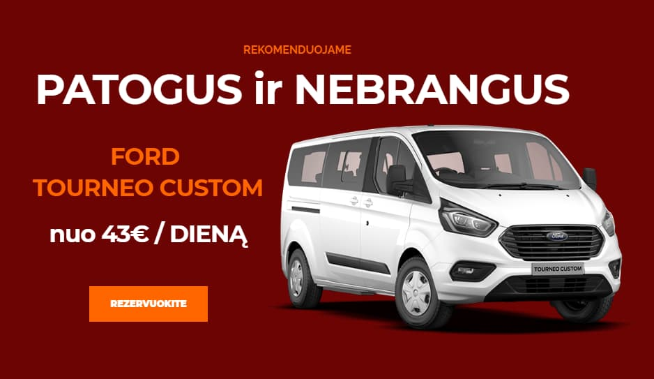 Mikroautobusu nuoma Ford Tourneo Custom