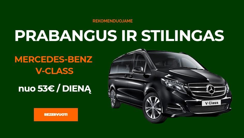 Mikroautobusu nuoma Kaune Mercedes-Benz V-Class