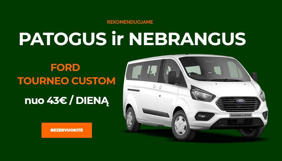 Mikroautobusu nuoma Kaune Ford Tourneo Custom