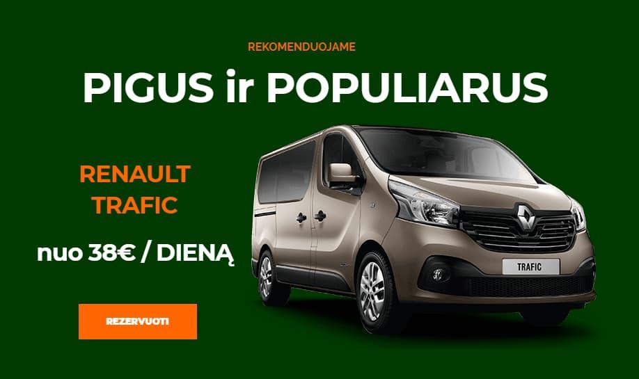 Mikroautobusu nuoma Kaune Renault Trafic