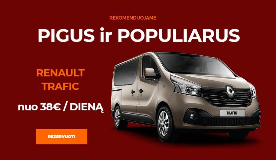 Mikroautobusu nuoma Renault Trafic