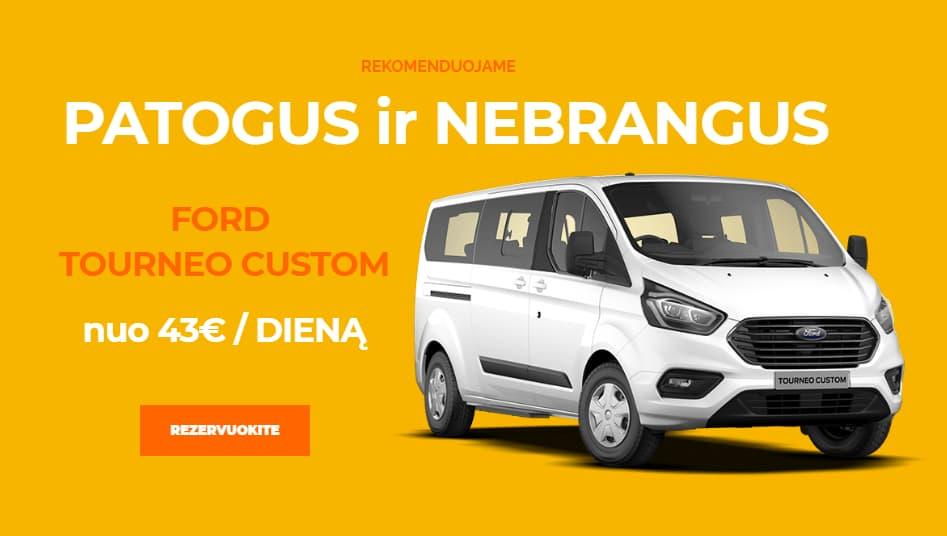 Mikroautobusų nuoma Vilniuje Ford Tourneo Custom