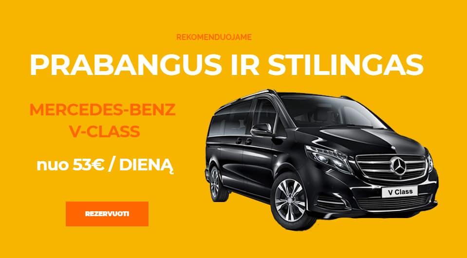 Mikroautobusų nuoma Vilniuje Mercedes-Benz V-Class