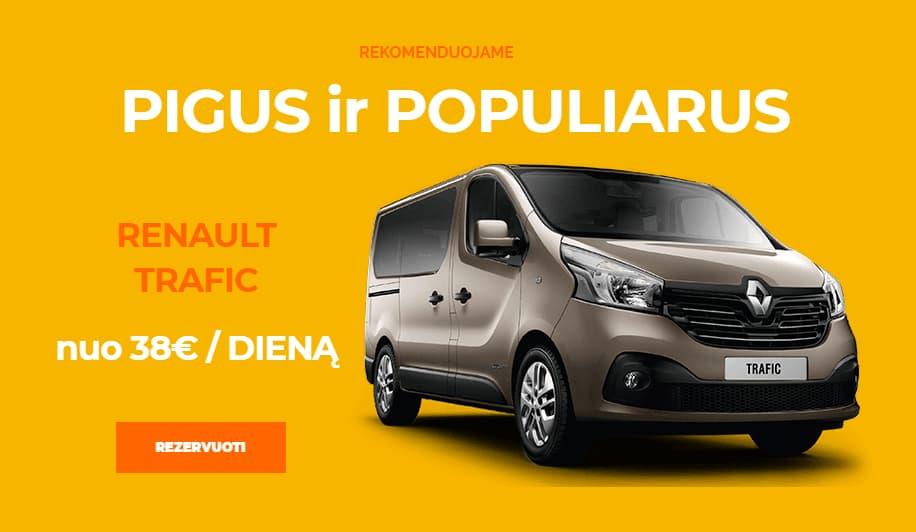 Mikroautobusų nuoma Vilniuje Renault Trafic