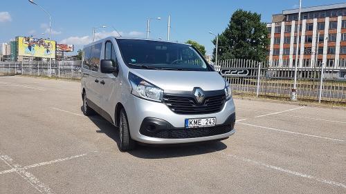 Nuomojamas Mikroautonusas Renault Trafic 2018 is priekio